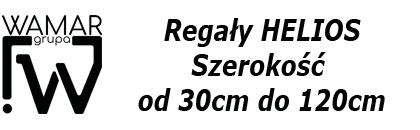 regaly magazynowe helios, szer. 30cm do 120cm